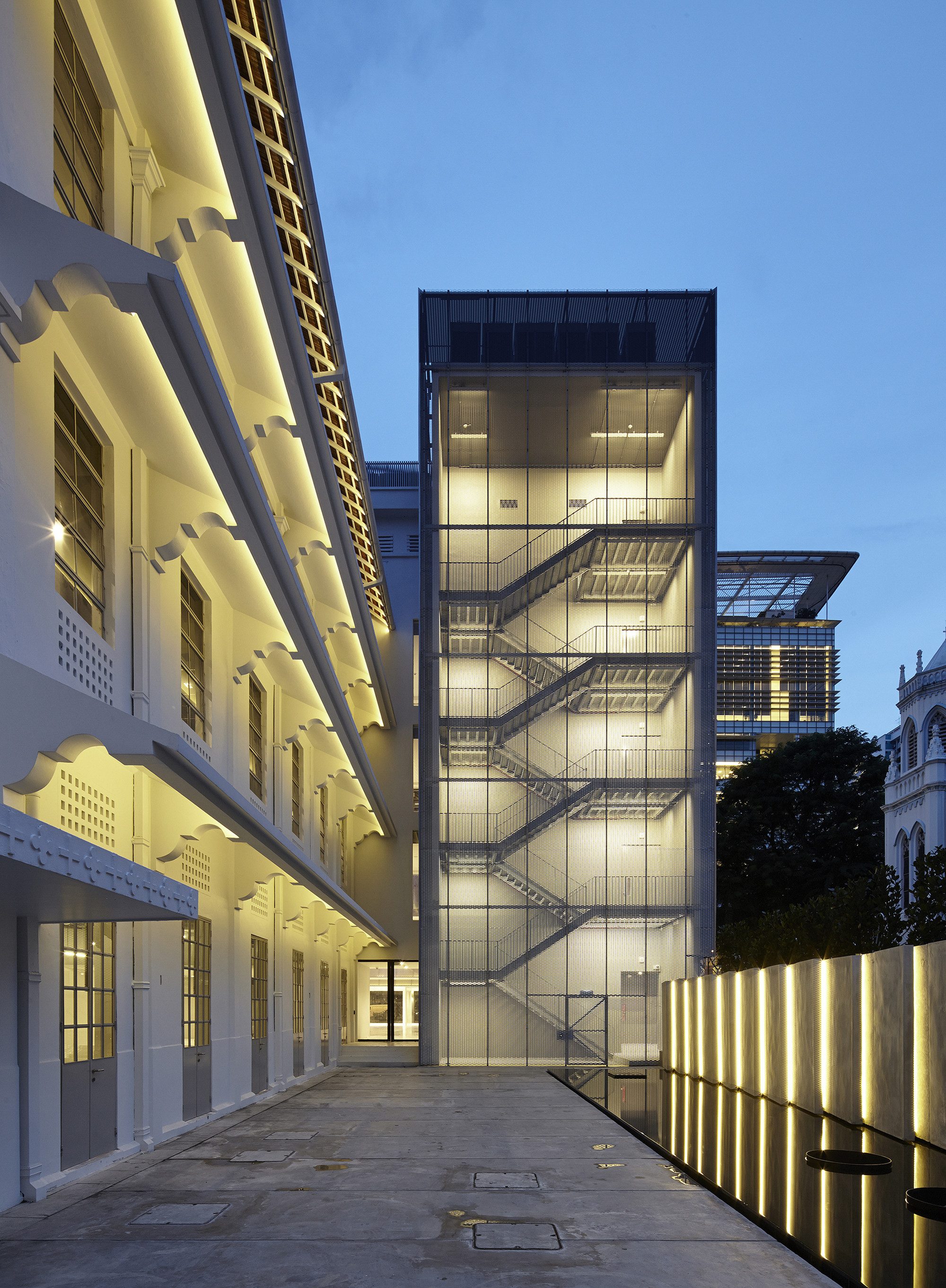 House Exterior Stair Tower : Gallery of national design centre scda architects