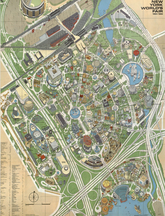 Official World's Fair map