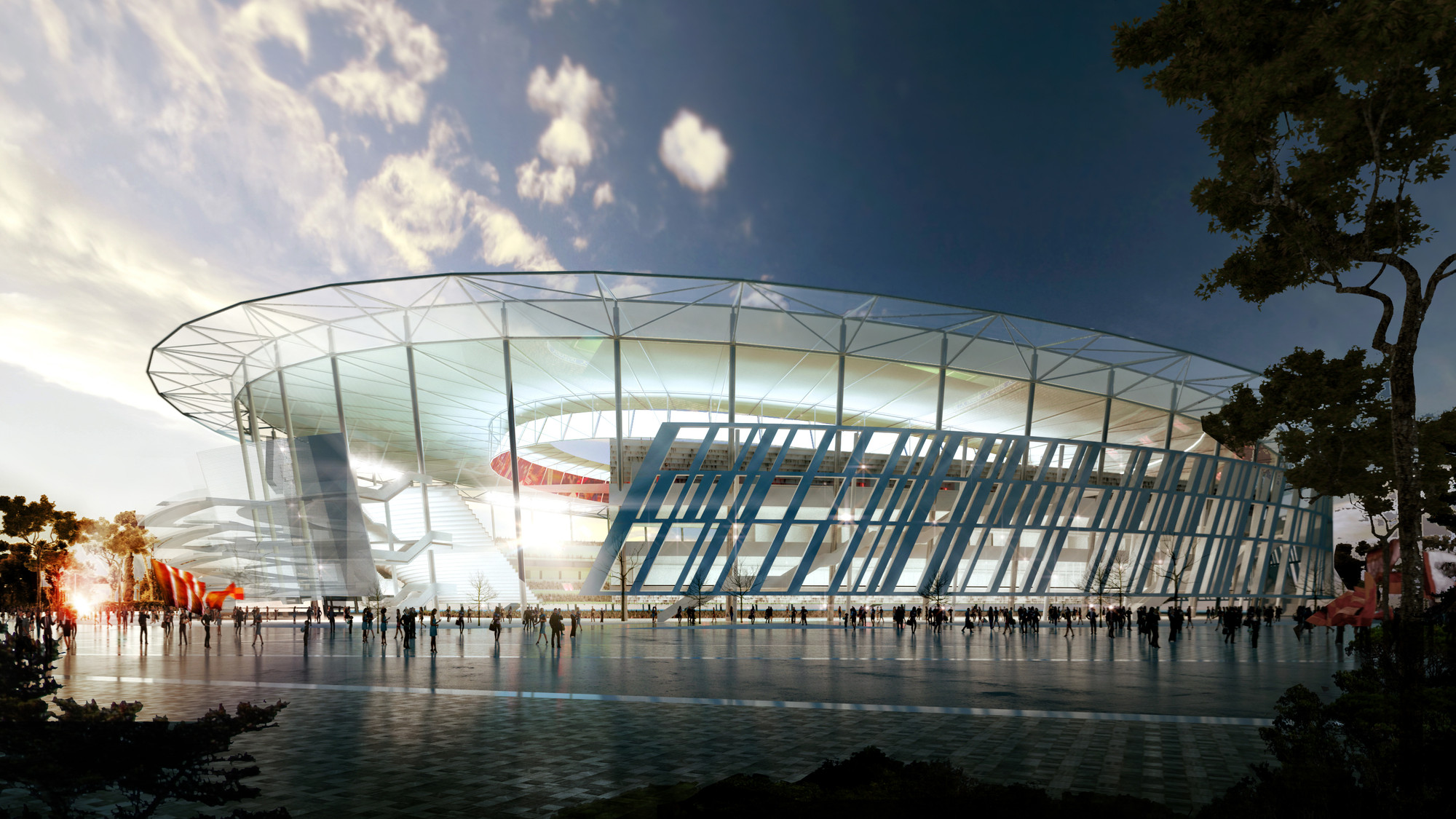 Woods Bagot Unveils Colosseum-Inspired Stadium for AS Roma , Courtesy of Woods Bagot