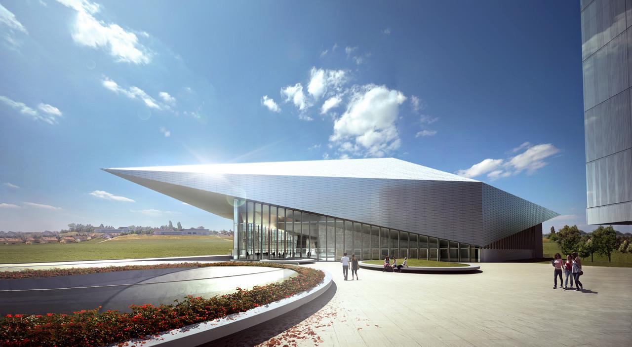 Richter dahl rocha develops innovative fa ade for swisstech convention center archdaily - Best architectes ...