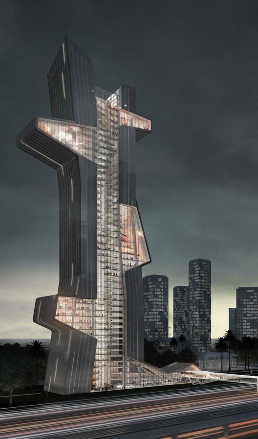 What If Dubai's Next Tower Were an Architecture School? , Courtesy of Evan Shieh, Ali Chen