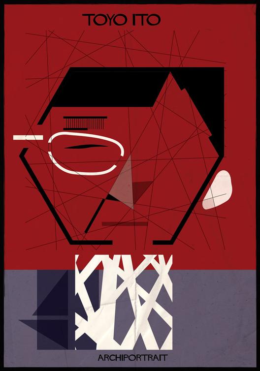 Las Últimas Ilustraciones de Federico Babina: ARCHIPORTRAIT, Toyo Ito. Image Courtesy of Federico Babina