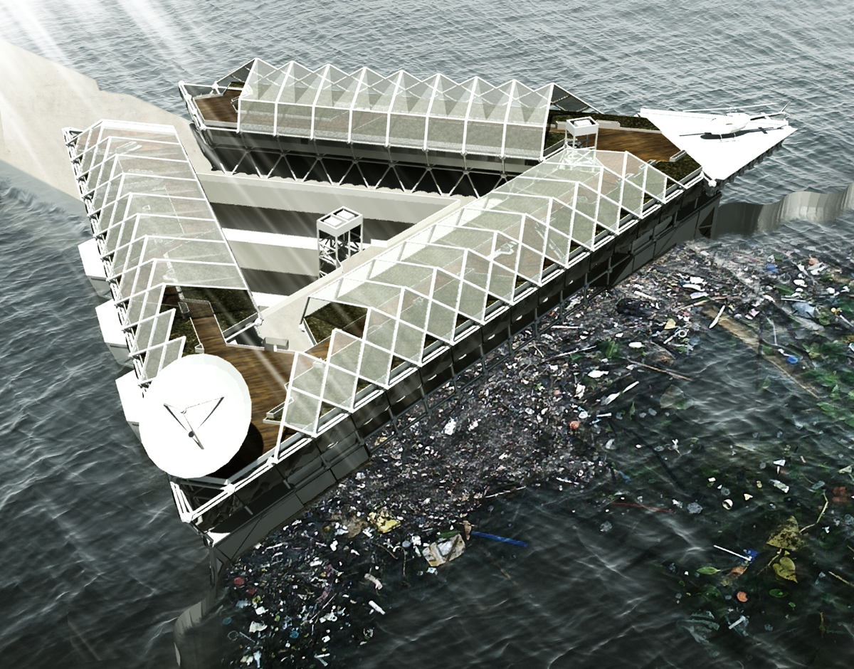 This Floating Platform Could Filter the Plastic from our Polluted Oceans, Courtesy of Cristian Ehrmantraut