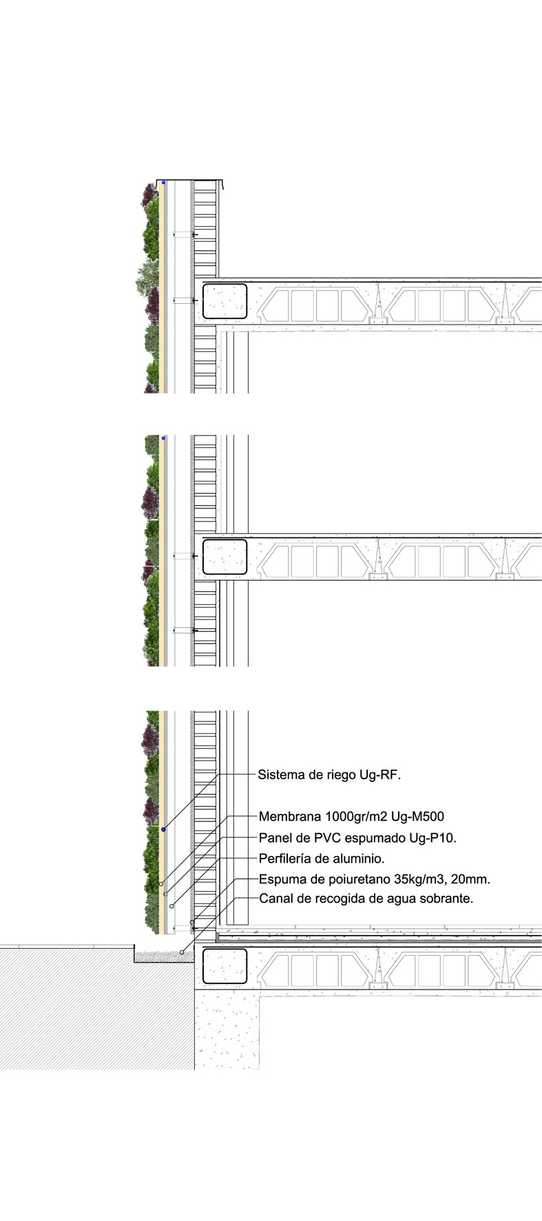Galer a de en detalle jardines verticales 15 for Estructura para jardin vertical