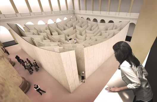 BIG Designs Labyrinth for Atrium of National Building Museum, © BIG. Image Courtesy of National Building Museum