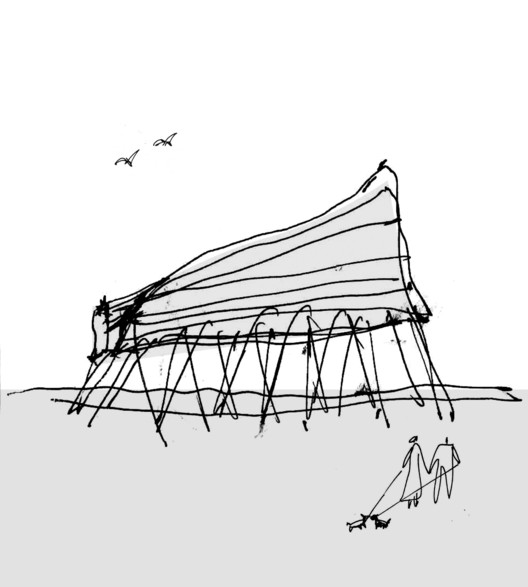 Emerging Architects Austin+Mergold Win Folly 2014, SuralArk Sketch. Image Courtesy of Austin + Mergold