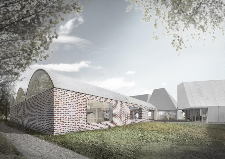 Tham & Videgård Design New Building for Denmark's Krabbesholm Højskole School of Art & Design, Exterior View. Image © Tham & Videgård Arkitekter