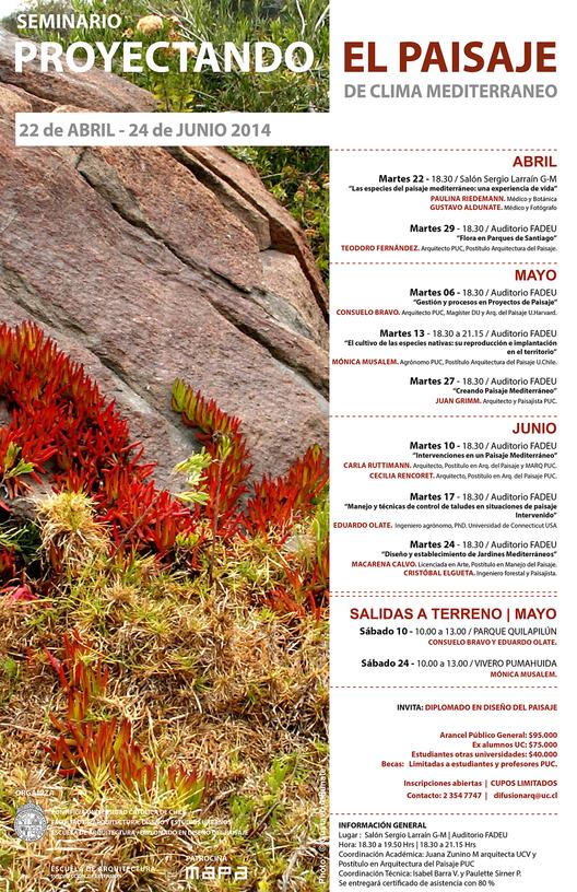 """Seminario """"Proyectando el paisaje de clima mediterráneo"""", Courtesy of Diplomado en Diseño de Paisaje"""
