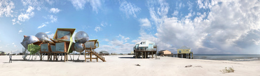 "Rendering by Dionisio González, for his series ""Dauphin Island"". Image Courtesy of The Huffington Post"