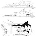 Original Drawing - Sydney Opera House. Image © Jørn Utzon / Courtesy of Bibliodyssey