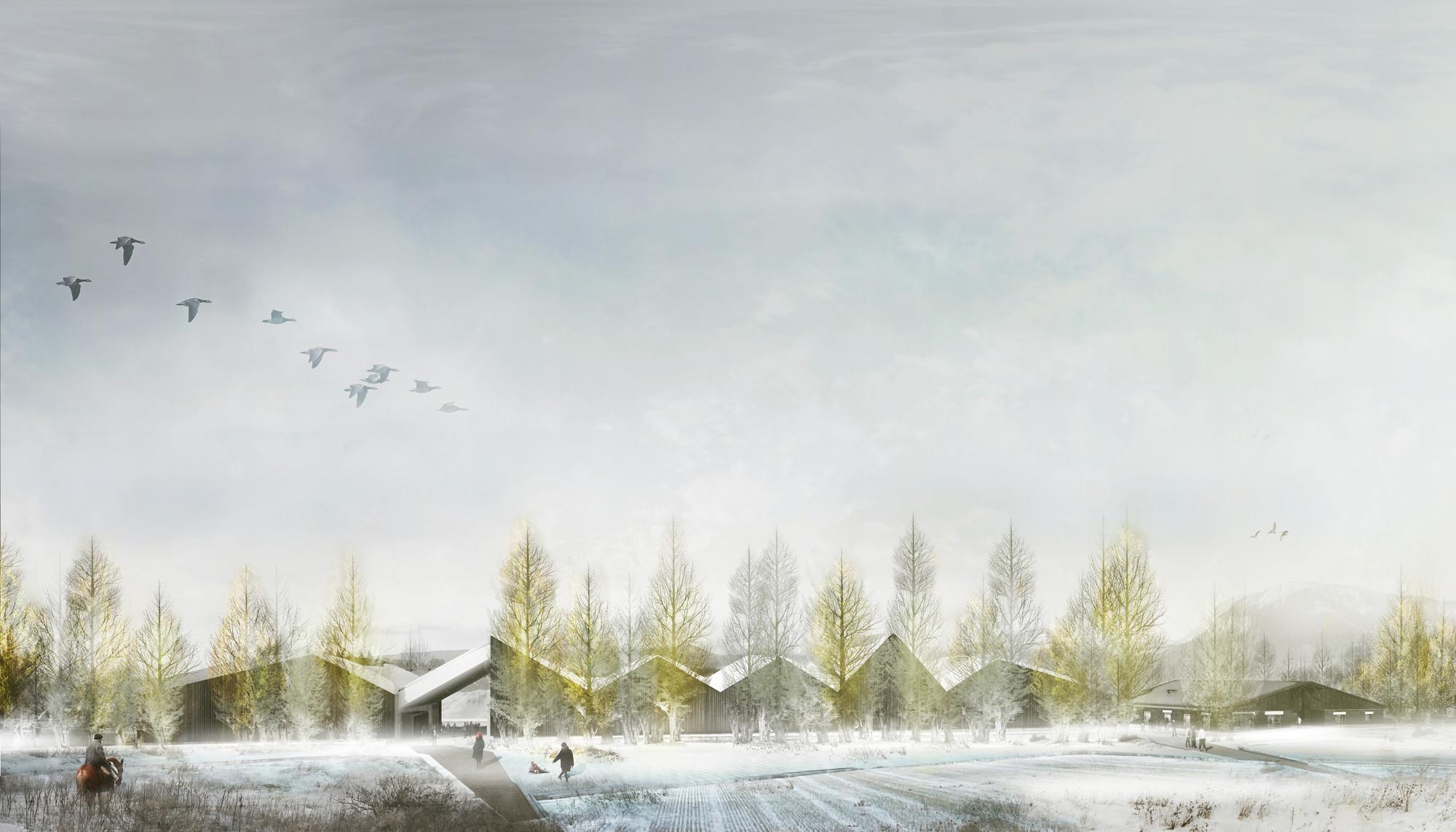 Exterior Invierno. Image Courtesy of BBATS + TIRADO LTDA