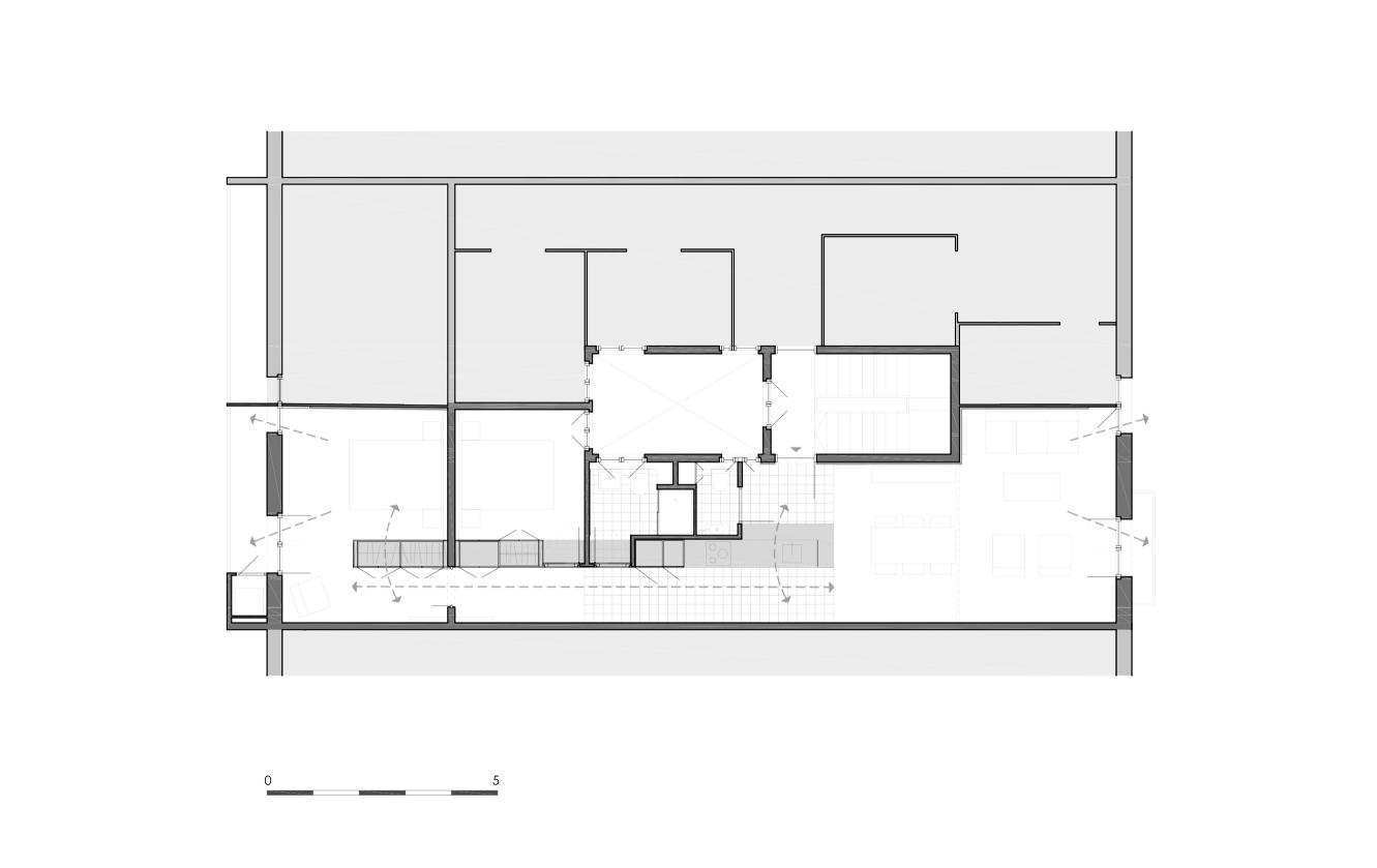 Reforma integral de piso pasante del ensanche de Barcelona / M2arquitectura