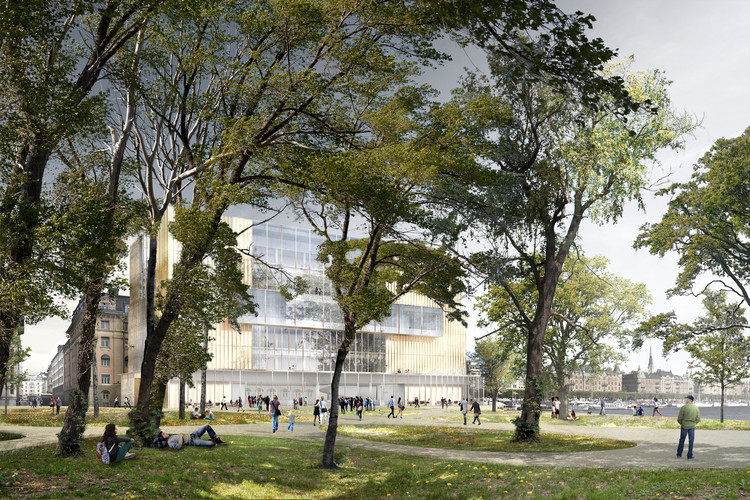 View from Nobel Garden. Image © David Chipperfield Architects