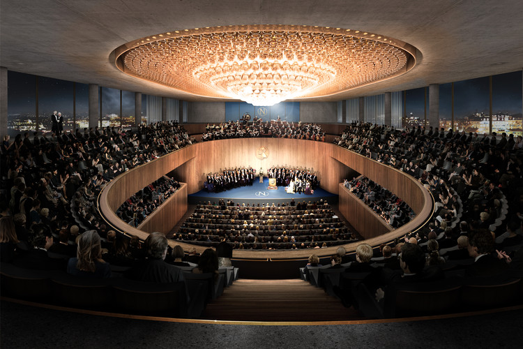 Auditorium with 1400 seats. Image © David Chipperfield Architects