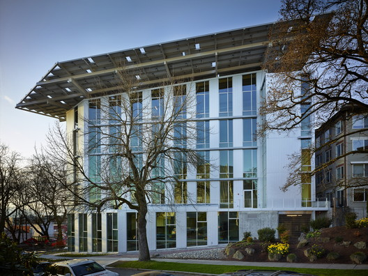The Bullitt Center, the World's Greenest Commercial Building. Image Courtesy of The Miller Hull Partnership
