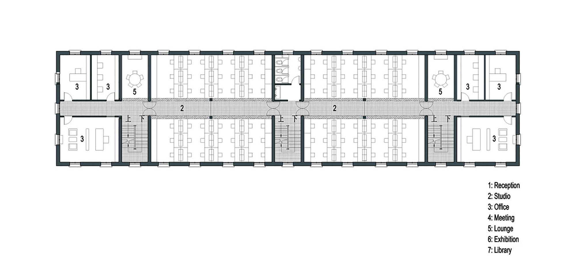 Galer a de estudio de arquitectura en el edificio wujigeng for Plan estudios arquitectura