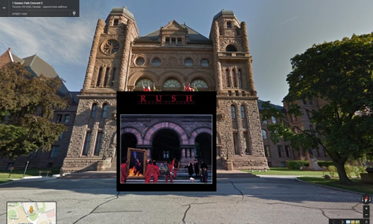 Moving Pictures / Rush. 1981 - Ontario Legislature en Toronto . Image © The Guardian
