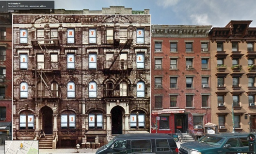 Physical Graffiti / Led Zeppelin. 1970 - St Mark's Place en Nueva York. Image © The Guardian