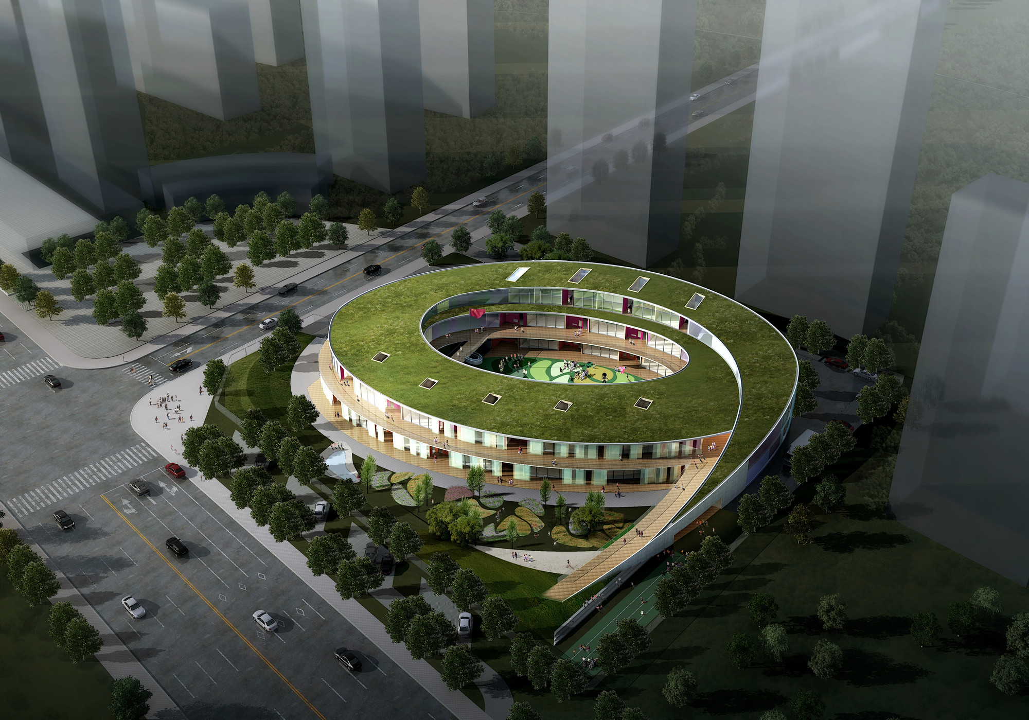 UDG China Breaks Ground on Wuxi Kindergarten, Courtesy of UDG China
