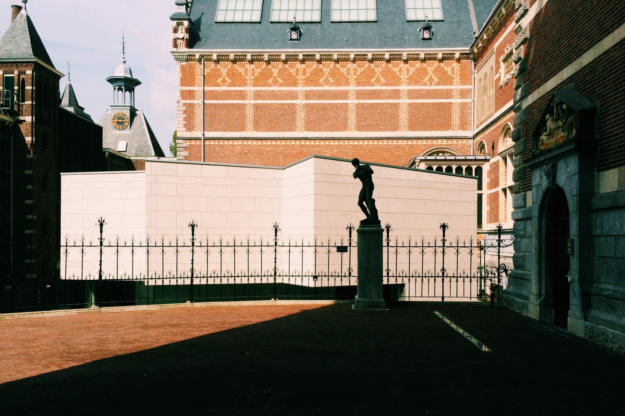 The Asian Pavilion set against the Rijksmuseum, April 2014. Image © James Taylor-Foster