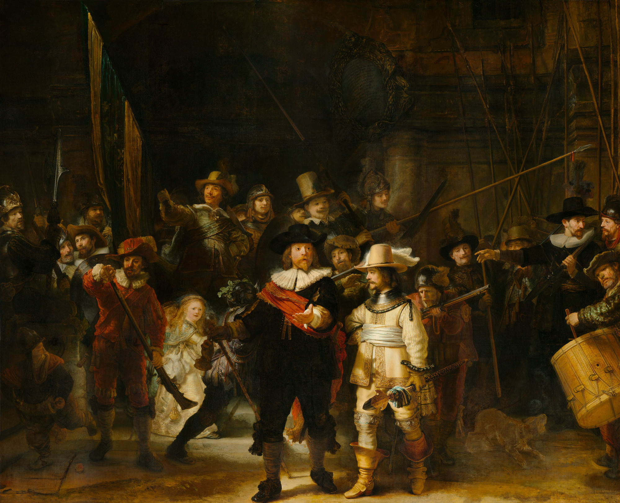 The Night Watch / Rembrandt van Rijn, 1642. Image Courtesy of Rijksmuseum