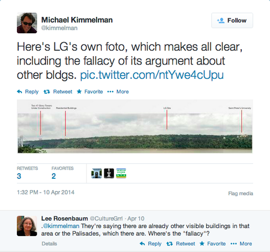 Are the Palisades Too Pure for LG's Headquarters?, Courtesy of Michael Kimmelman's Twitter Feed (@kimmelman)