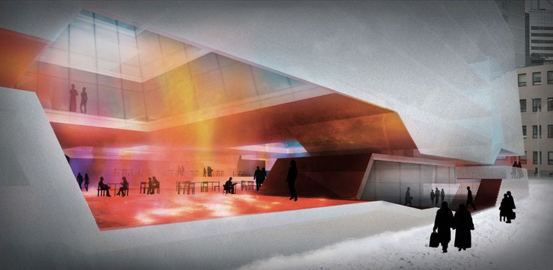 Sean Lally, Estonian Academy of Arts (proposal for Tallin, Estonia, 2008). Image Courtesy of Wheelwright Prize