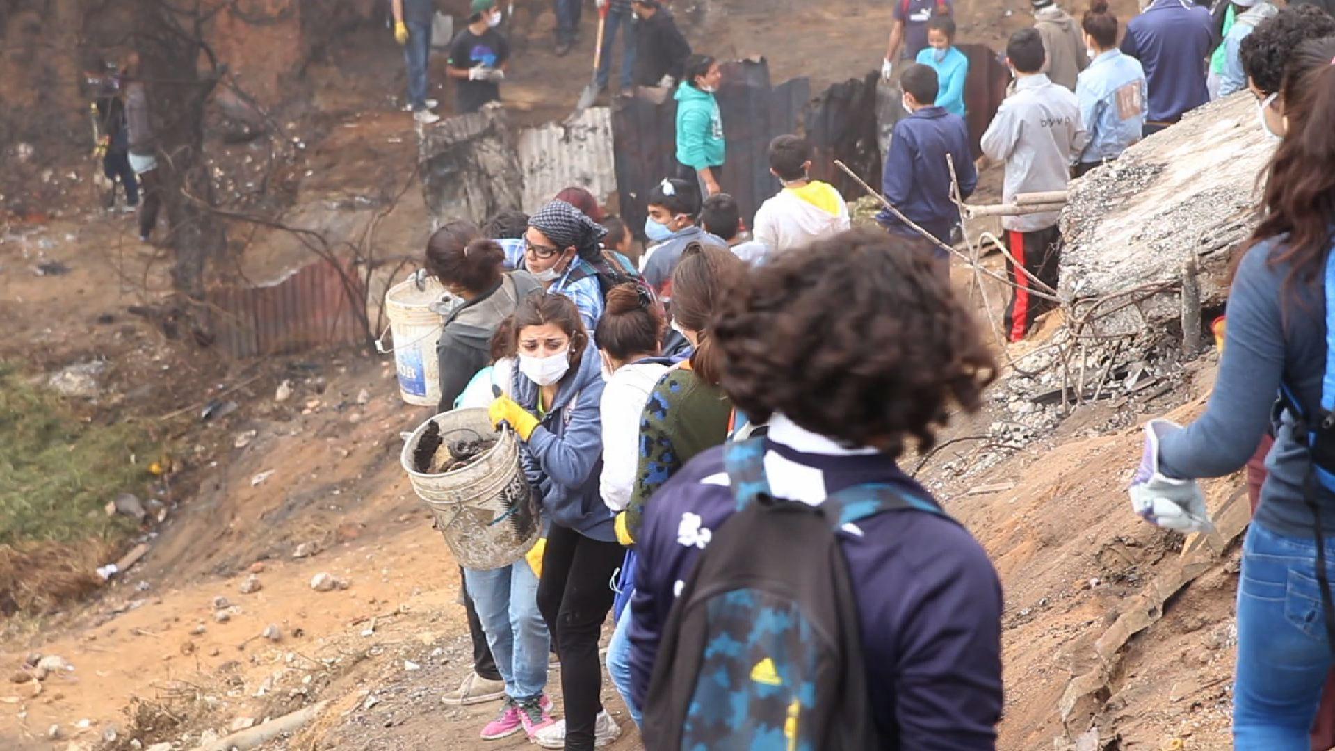 Incendio en Valparaíso: Reporte desde el Cerro Ramaditas, © Cristian Pino