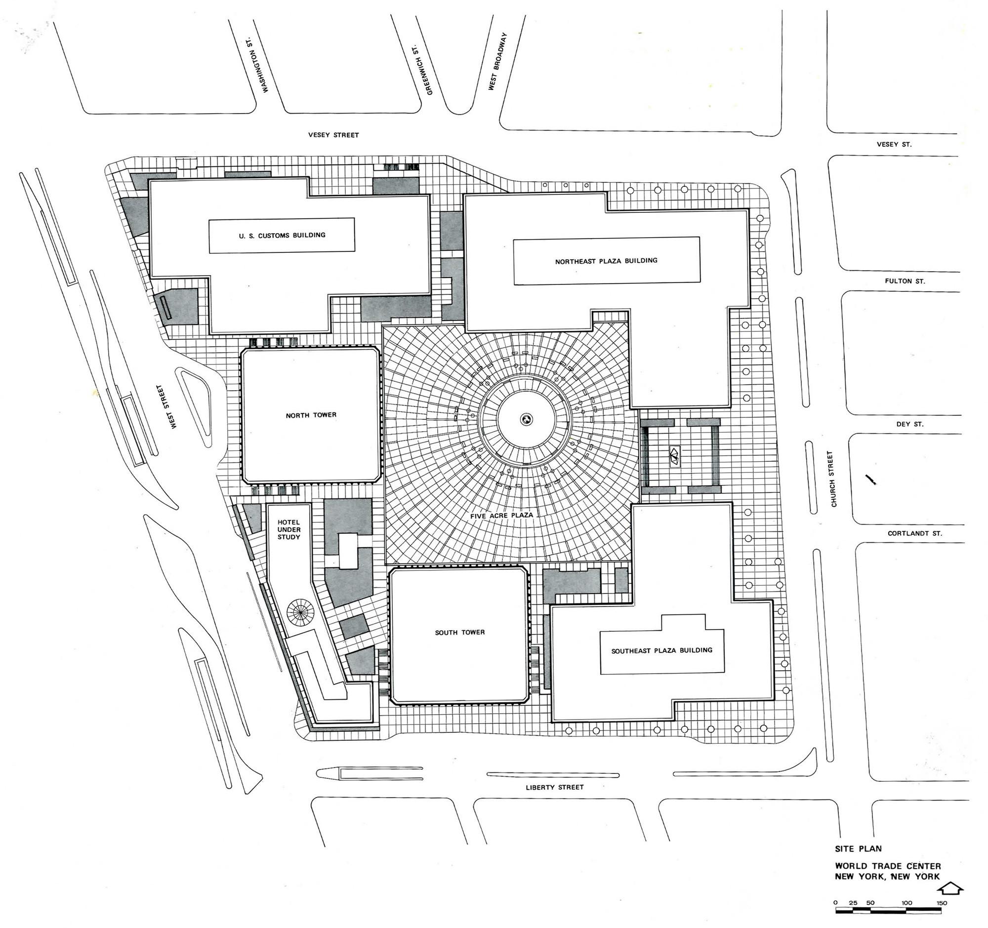 Ad classics world trade center minoru yamasaki for Adhouse plans