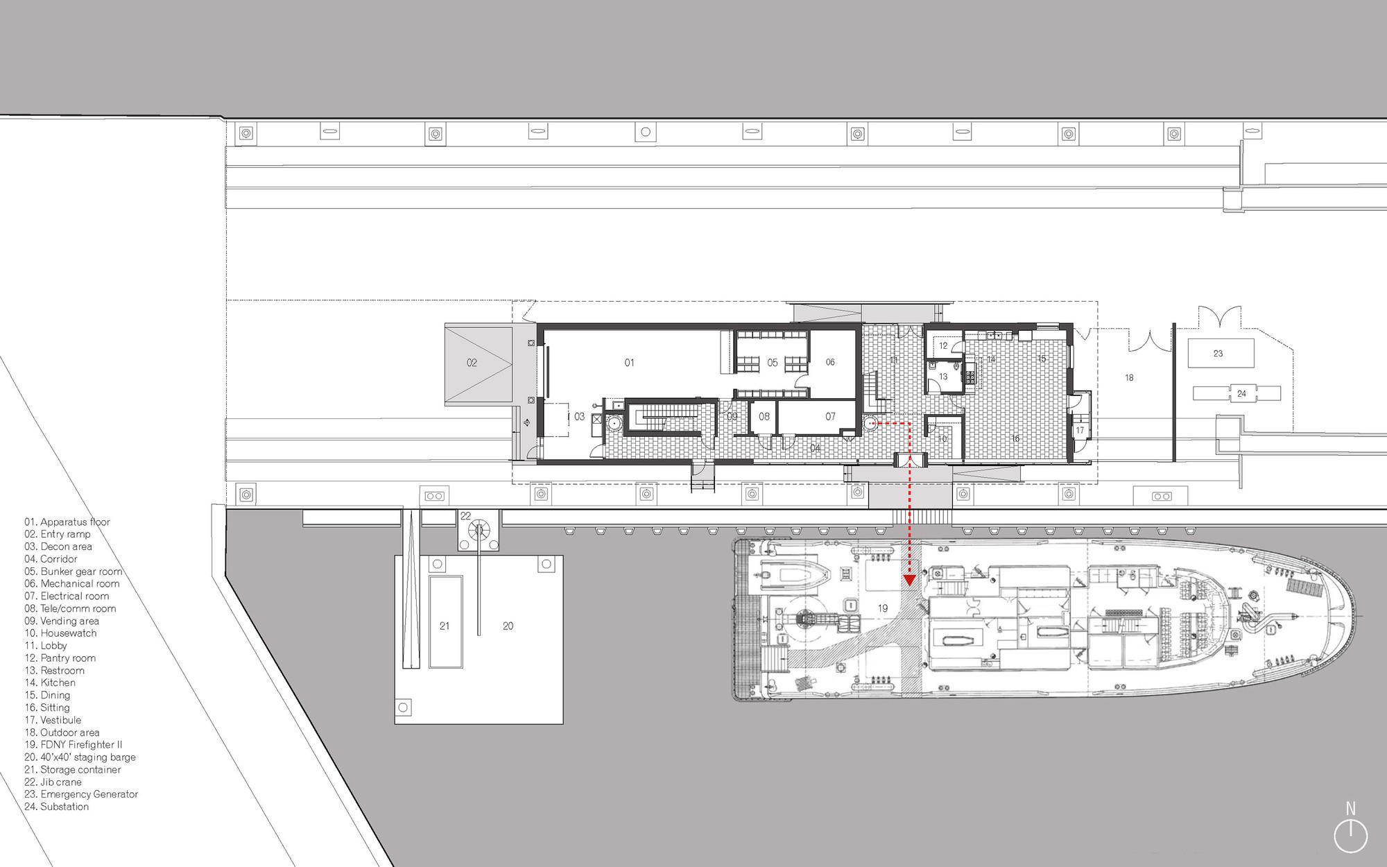 Autodesk Floor Plan Gallery Of Fdny Marine 9 Barracks Sage And Coombe 9