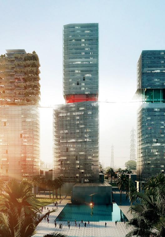Maison Edouard François Designs Luxurious Skyscraper Trio in India, © Luxigon