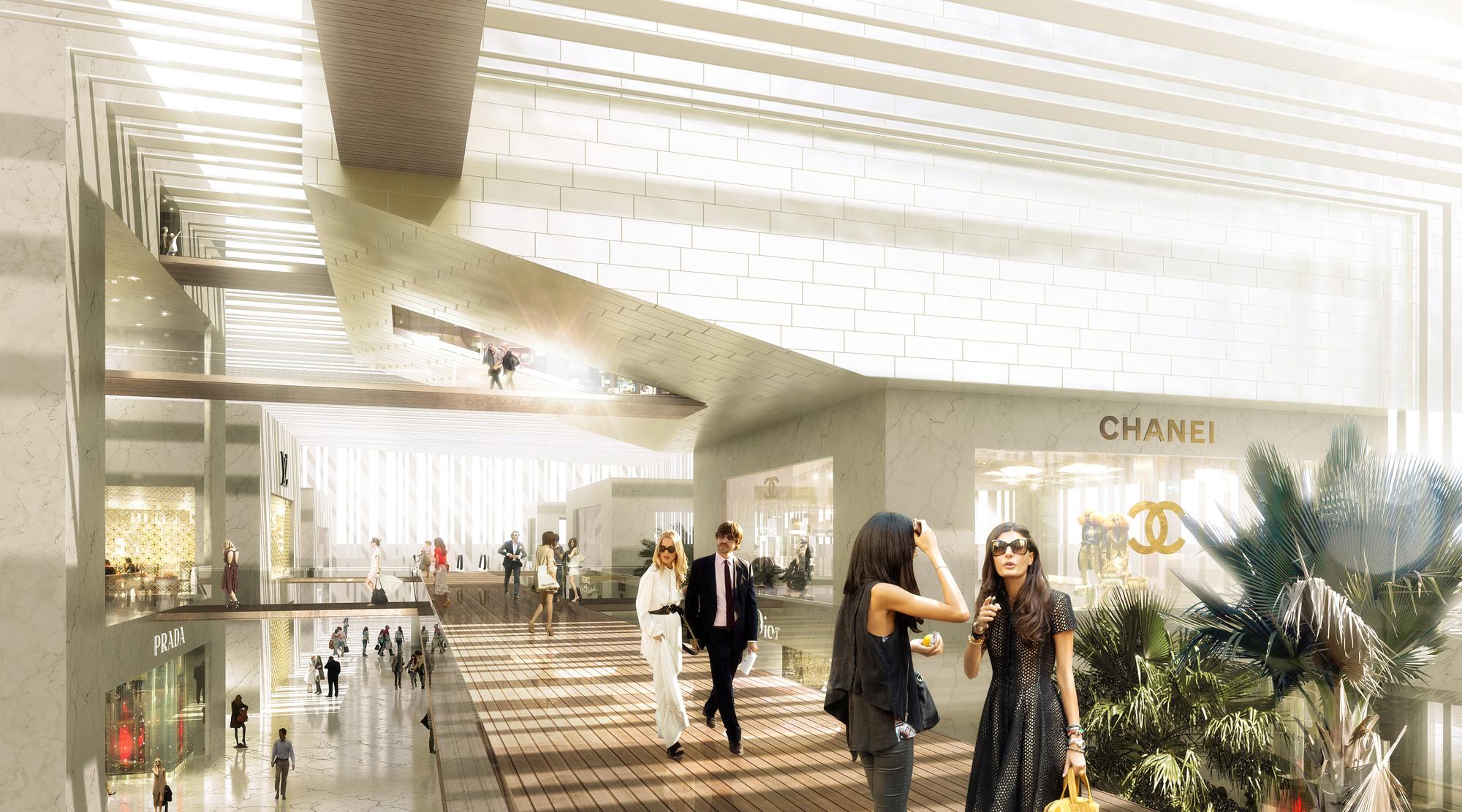 Shopping center interior. Image © Luxigon