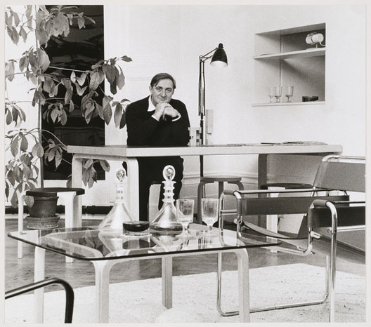 Portrait of James Stirling. Ray Williams, photographer.. Image Courtesy of Canadian Centre for Architecture