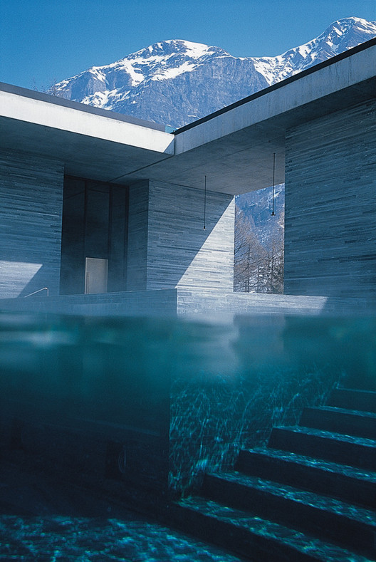 Therme Vals / Peter Zumthor. Image Courtesy of Peter Zumthor