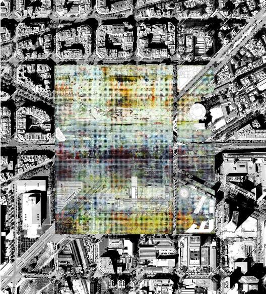 Fotoplano + Pintura Gerhard Richter. Image Courtesy of UTE Fuses Viader + Perea + Mansilla + Desvign