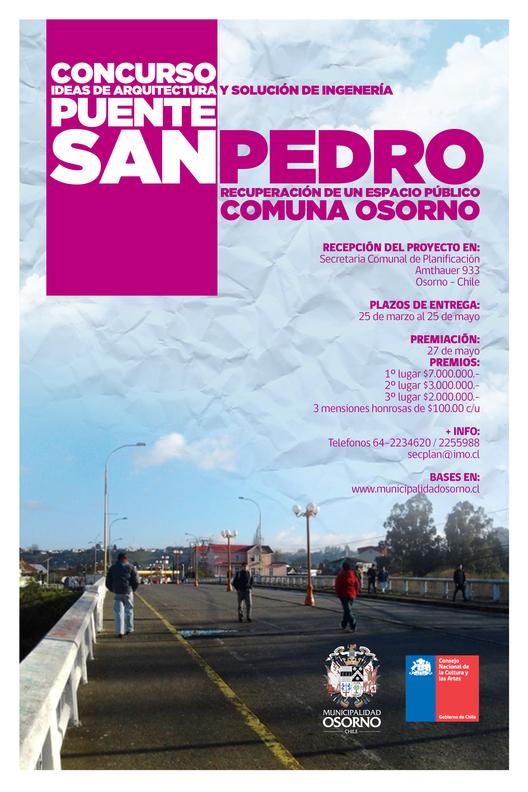 Concurso Ideas de Arquitectura Puente San Pedro: recuperación de un espacio público / Osorno, Chile