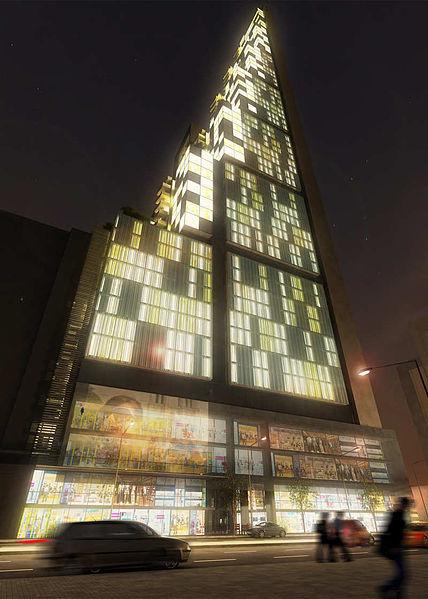 The BD Bacatá Tower in Bogotá. Image Courtesy of Wikimedia CC User Sbgaga28