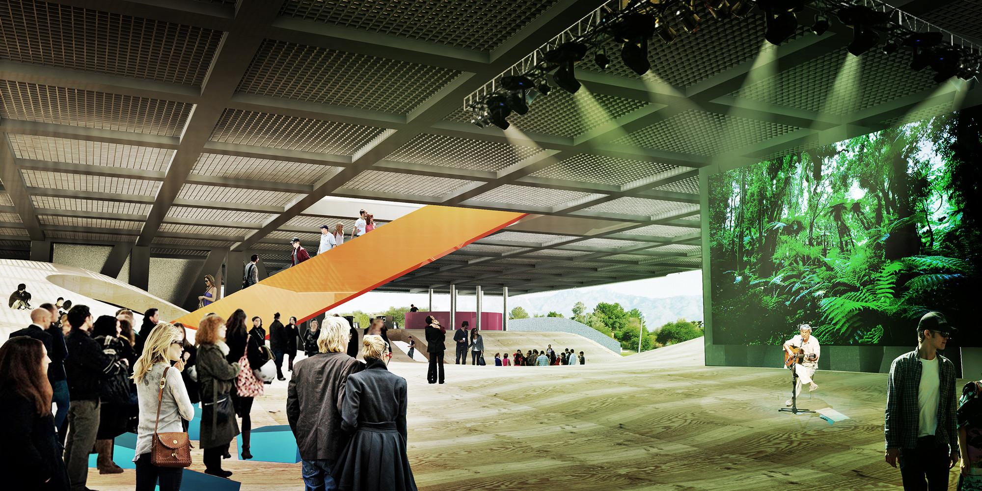 Plaza Cubierta. Imagen Cortesía del Equipo de Proyecto