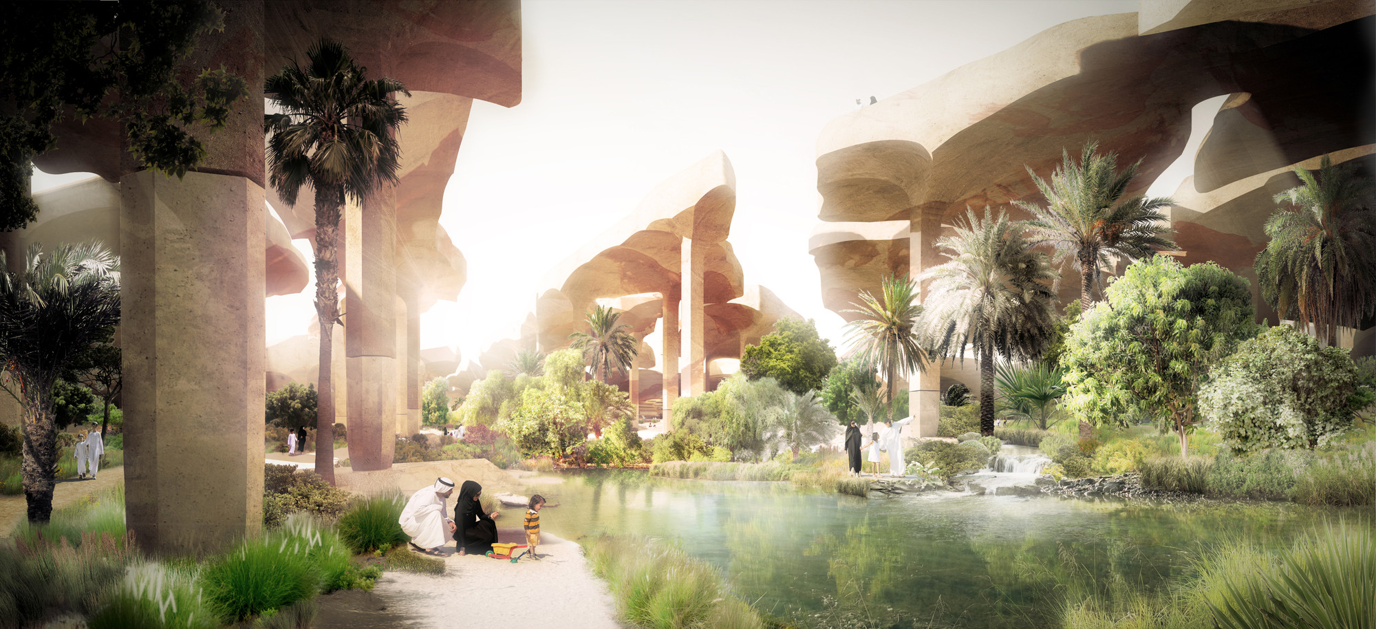 Oasis. Image Courtesy of Heatherwick Studio