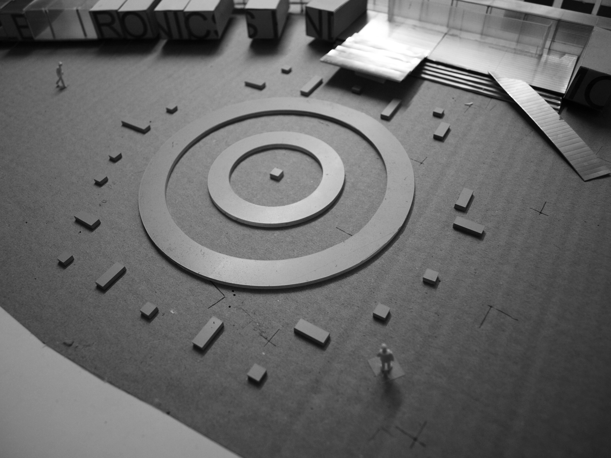 Model of the Transformer's concrete foundations. Image Courtesy of OMA