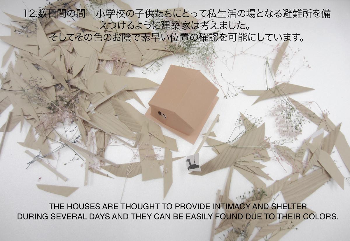 casas origami de madera refugios temporales para tsunami en japnmaqueta