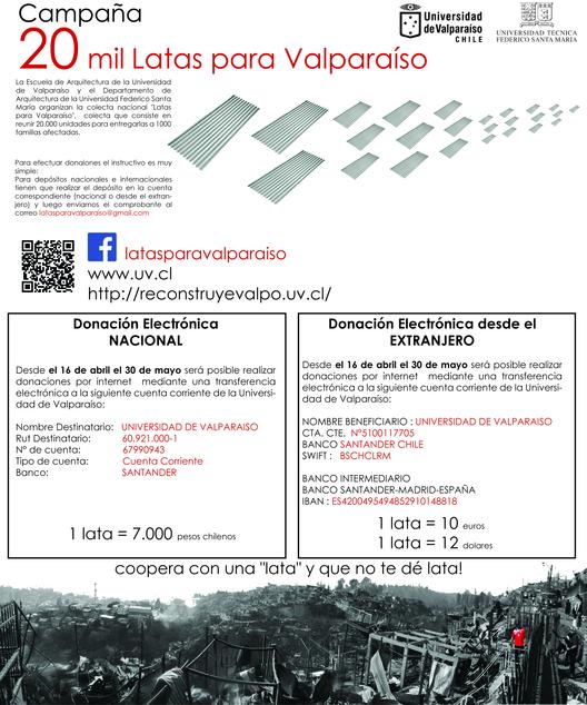 20 mil latas para Valparaíso, Courtesy of Latas para Valparaíso