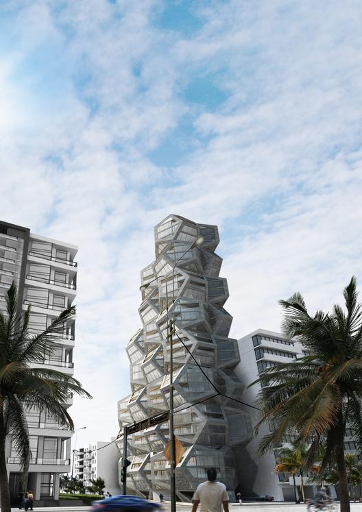 """Tammo Prinz Architects propone una torre """"platoniana"""" en Lima, Perú, Cortesía de Tammo Prinz Architects"""