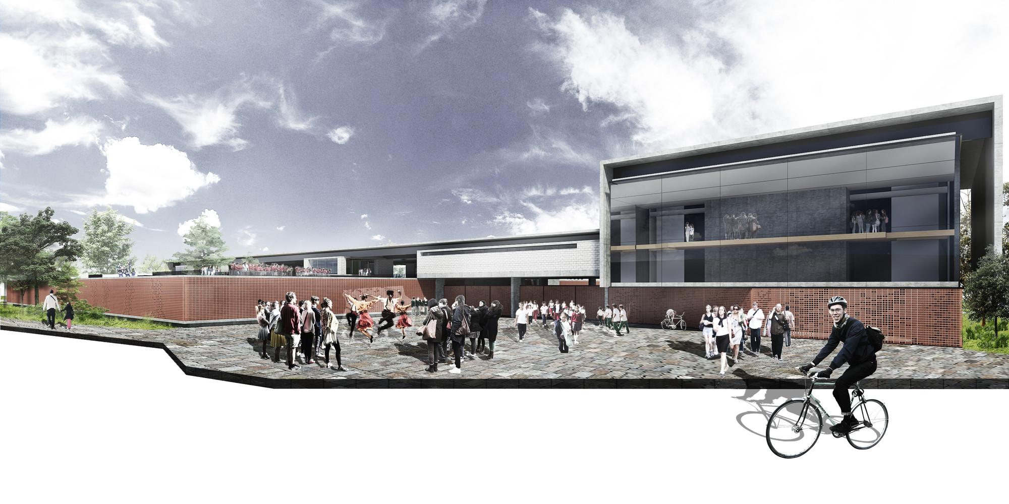 Primer Lugar Concurso para el Diseño de Colegios y un Equipamiento Cultural – Teatro, en Bogotá / Colombia, Courtesy of Carlos Andrés García y Eduardo Mejía