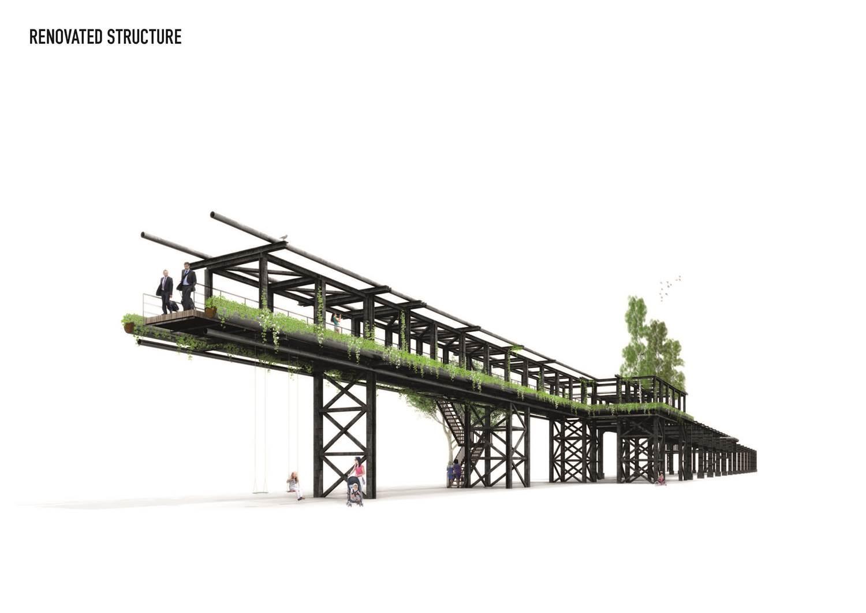 Modelo de la reformada pasarela. © MVRDV
