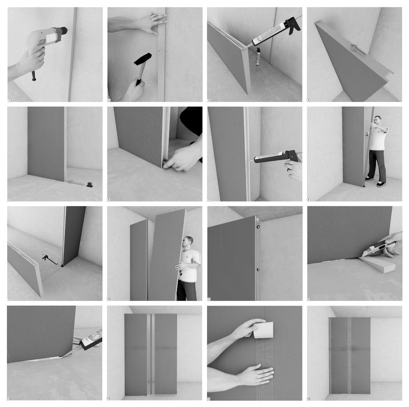 Instalación Panel de Construcción Wedi como tabique separador. Image © Catálogo de Materiales / Plataforma Arquitectura