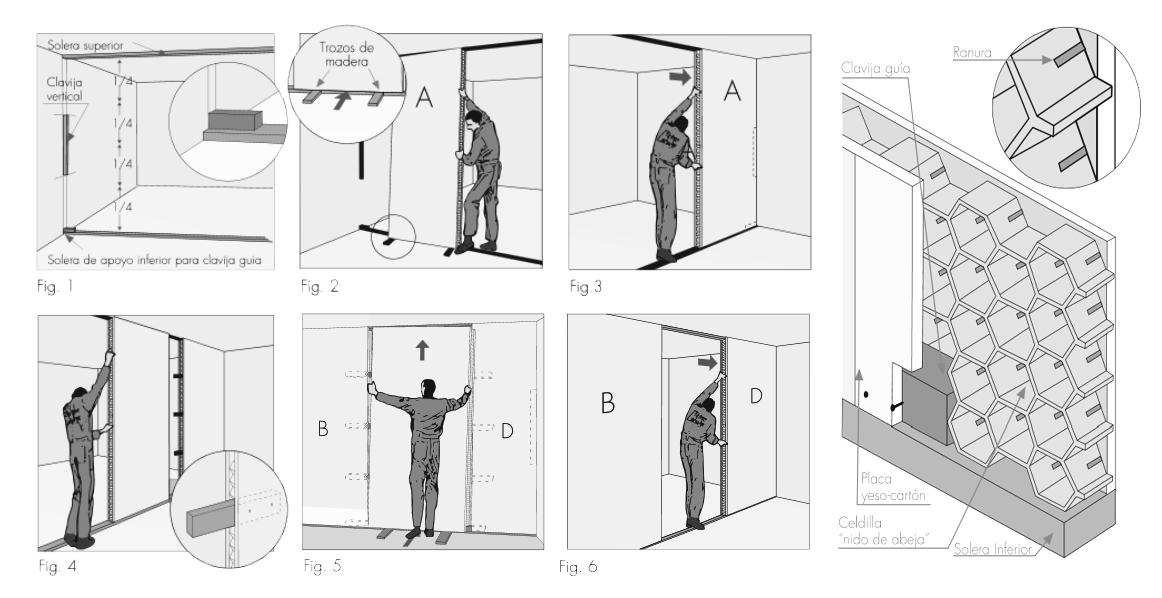 Instalación Tabique Autosoportante Pre-armado. Image © Catálogo de Materiales / Plataforma Arquitectura