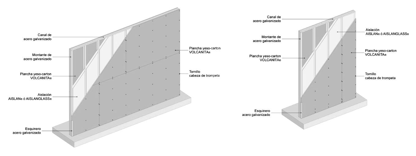 Instalación Tabique de Perfiles Metálicos + Yeso Cartón. Image © Catálogo de Materiales / Plataforma Arquitectura