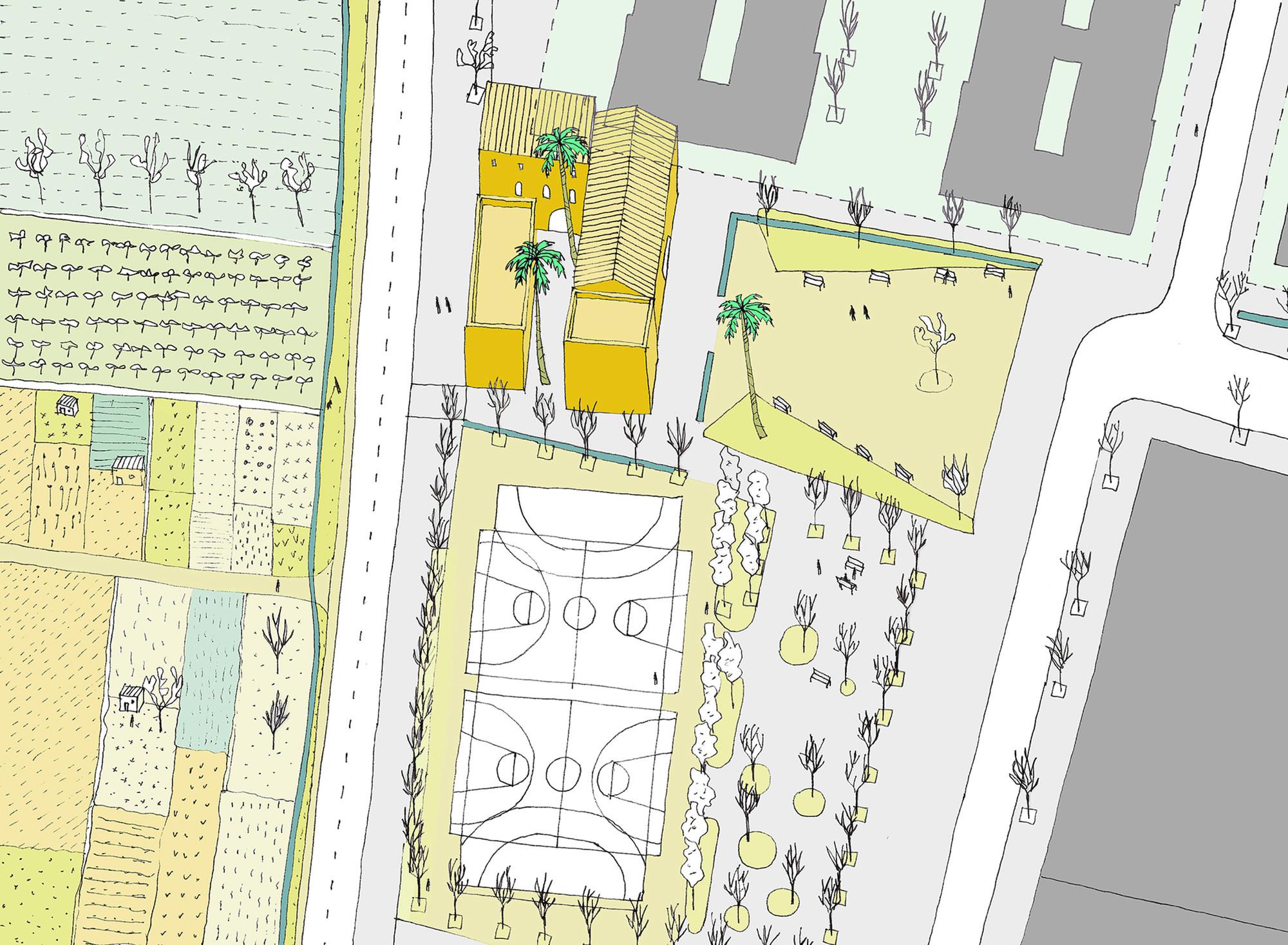 Mejora del espacio público. Image Courtesy of Equipo Improvistos