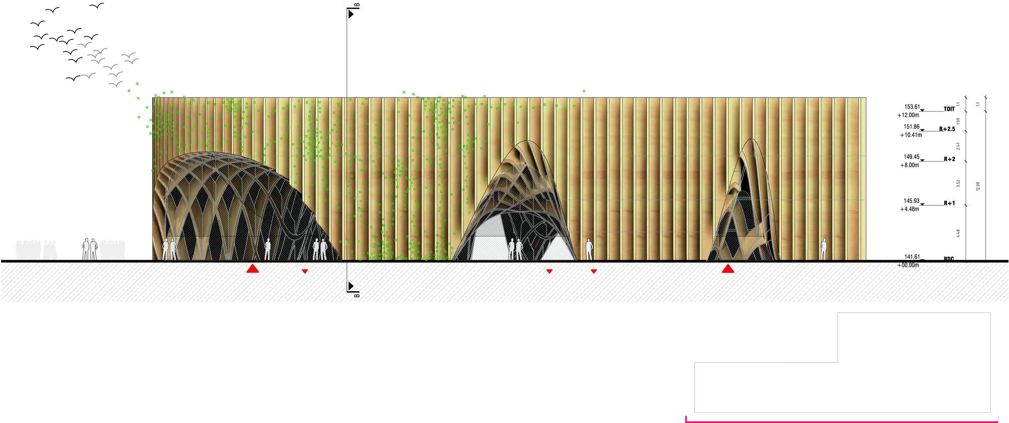 gallery of milan expo 2015 x tu designs latticed fertile market for french pavilion 17. Black Bedroom Furniture Sets. Home Design Ideas